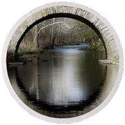 Stone Arch Bridge Round Beach Towel