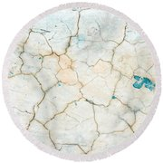 Stone Backgorund Round Beach Towel