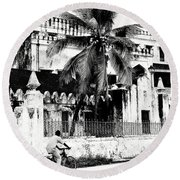 Tanzania Stone Town Unguja Historic Architecture - Africa Snap Shots Photo Art Round Beach Towel by Amyn Nasser