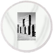 Round Beach Towel featuring the photograph Stonehenge Replica by Chalet Roome-Rigdon
