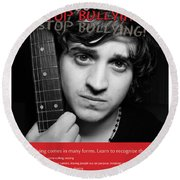 Round Beach Towel featuring the photograph Stop Bullying by Betty Denise