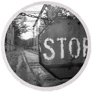 Stop Sign Round Beach Towel