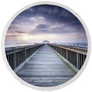 Stopping For The Big Stopper Round Beach Towel