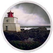 Storm Approaching Round Beach Towel