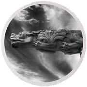 Storm Dragon Round Beach Towel