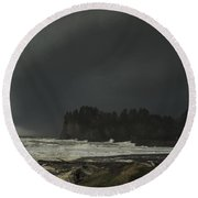 Round Beach Towel featuring the photograph Storm Is Coming North West Wa by Yulia Kazansky