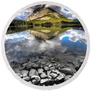 Storm Mountain II Round Beach Towel