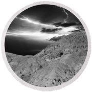 Round Beach Towel featuring the photograph Storm On The Mountain by Athala Carole Bruckner