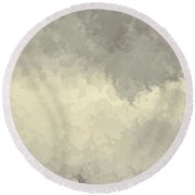 Storm Over A Cornfield Round Beach Towel