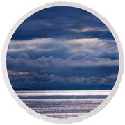 Round Beach Towel featuring the photograph Storm Supremacy by Jordan Blackstone