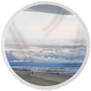 Round Beach Towel featuring the photograph Storm Tail by Steven Santamour