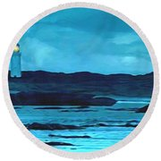 Storm's Brewing Round Beach Towel