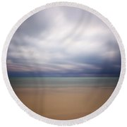 Stormy Calm Round Beach Towel