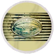 Stout Metal Airplane Co. Emblem Round Beach Towel