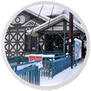 Strafford Station Round Beach Towel