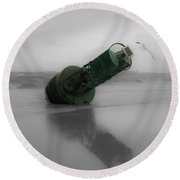 Round Beach Towel featuring the photograph Stranded Too by Angela DeFrias
