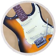 Strat O. Caster Round Beach Towel by Chris Fraser