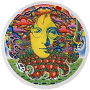 Strawberry Fields For Lennon Round Beach Towel