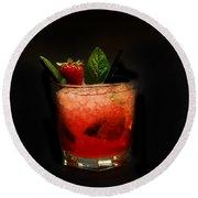 Strawberry Mojito Round Beach Towel by Gina Dsgn