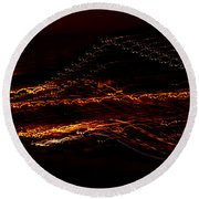 Streaks Across The Bridge Round Beach Towel