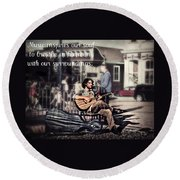 Street Beats Inspiration Round Beach Towel
