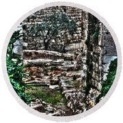 Round Beach Towel featuring the photograph Street In Jerusalem by Doc Braham