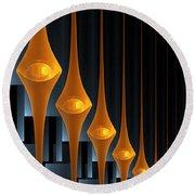Round Beach Towel featuring the digital art Street Lights by Gabiw Art