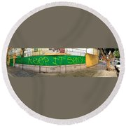 Round Beach Towel featuring the photograph Street Scene - Mexico City by Sean Griffin