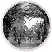 Avenue Of The Palms, San Francisco Round Beach Towel