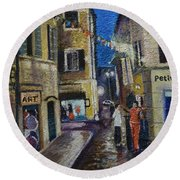 Street View Provence 2 Round Beach Towel