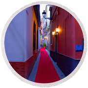 Streets Of Seville - Red Carpet  Round Beach Towel