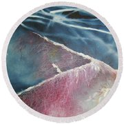 String Theory - Wave Round Beach Towel by Carrie Maurer