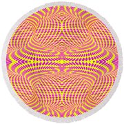 Strip Club Optical Illusion Round Beach Towel