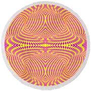 Strip Club Optical Illusion Round Beach Towel