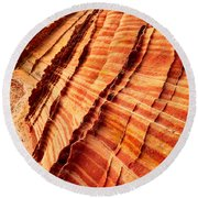 Striped Sandstone Round Beach Towel