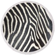 Stripes And Ripples Round Beach Towel