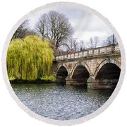 Stroll Along The Serpentine Round Beach Towel