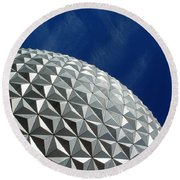 Round Beach Towel featuring the photograph Structural Beauty by David Nicholls