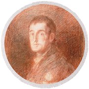 Study For An Equestrian Portrait Of The Duke Of Wellington 1769-1852 C.1812  Round Beach Towel