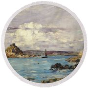 Study For The Bay Of Douarnenez Round Beach Towel