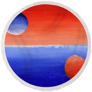 Study In Values Round Beach Towel