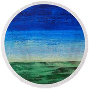 Study Of Earth And Sky Round Beach Towel