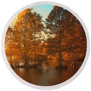 Stumpy Sunset Round Beach Towel