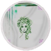 Stylin' Inverted 2 Round Beach Towel by Kelly Awad
