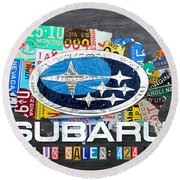 Subaru License Plate Map Sales Celebration Limited Edition 2013 Art Round Beach Towel