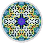 Round Beach Towel featuring the digital art Subatomic Orbit by Derek Gedney
