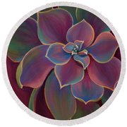 Succulent Delicacy Round Beach Towel