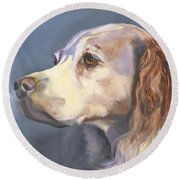 Such A Spaniel Round Beach Towel