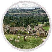 Sudeley Hill Farm Round Beach Towel