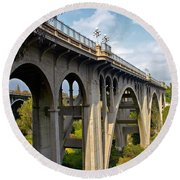 Suicide Bridge Round Beach Towel